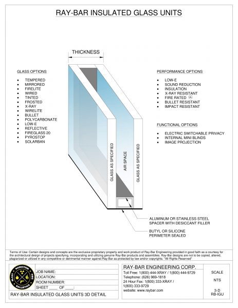 Ray-Bar Insulated Glass Units Technical Sheet