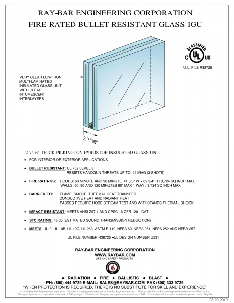 Ray-Bar Bullet Resistant Glass